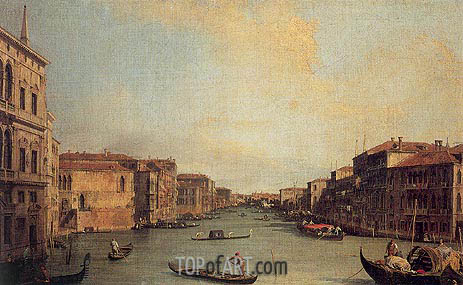 Grand Canal from the Palazzo Balbi, 1735 | Canaletto | Gemälde Reproduktion