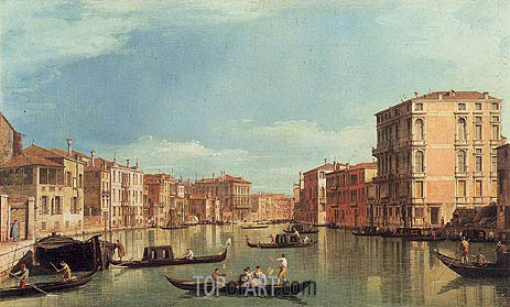 Grand Canal Near Palazzo Bembo & Palazzo Vendramin, a.1730 | Canaletto | Painting Reproduction
