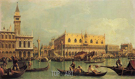Piazzetta and the Doge's Palace, c.1735/40 | Canaletto | Painting Reproduction