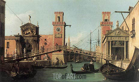 Entrance to the Arsenal, c.1732 | Canaletto | Painting Reproduction