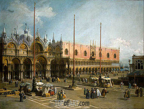 Piazza di San Marco, c.1735/40 | Canaletto | Painting Reproduction