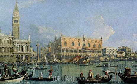 The Doge's Palace with the Piazza di San Marco, 1735 | Canaletto | Painting Reproduction