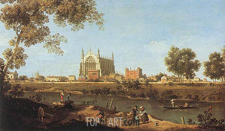 The Chapel of Eton College, 1747 | Canaletto | Painting Reproduction