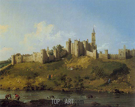 Alnwick Castle, 1746 | Canaletto | Painting Reproduction