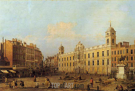 Northumberland House, 1752 | Canaletto | Painting Reproduction