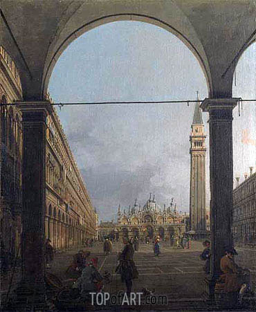Piazza San Marco, Looking East, c.1756 | Canaletto | Painting Reproduction