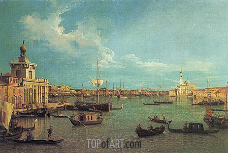 Venice: The Bacino from the Giudecca, c.1740 | Canaletto | Painting Reproduction