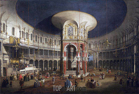 Ranelagh Gardens, the Interior of the Rotunda, c.1751 | Canaletto | Gemälde Reproduktion