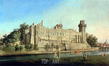 Warwick Castle, c.1749 | Canaletto | Painting Reproduction