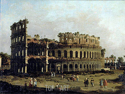 The Colosseum, undated | Canaletto | Painting Reproduction