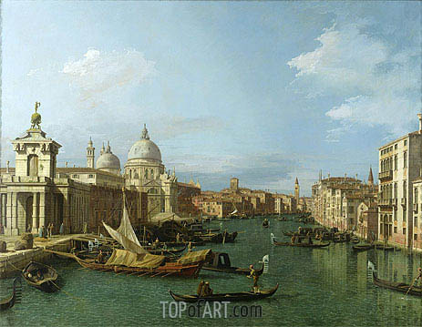 Entrance to the Grand Canal: Looking West, c.1738/42 | Canaletto | Painting Reproduction