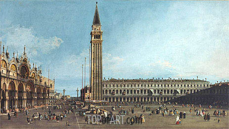 The Piazza di San Marco, Venice, c.1742/46 | Canaletto | Painting Reproduction