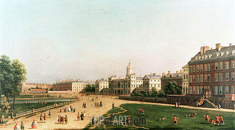 New Horse Guards from St. James's Park, undated | Canaletto | Painting Reproduction