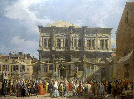 Venice: The Feast Day of Saint Roch, c.1735 | Canaletto | Painting Reproduction