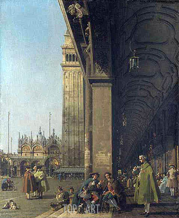 Piazza San Marco and the Colonnade, c.1756 | Canaletto | Painting Reproduction