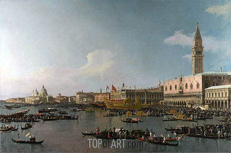 Venice: The Basin of San Marco on Ascension Day, c.1740 | Canaletto | Painting Reproduction