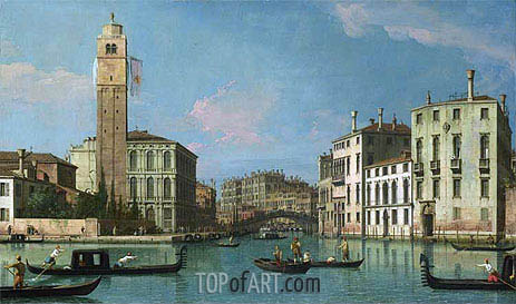 Venice: Entrance to the Cannaregio, c.1734/42 | Canaletto | Painting Reproduction