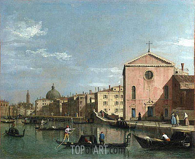 View of the Grand Canal, c.1738 | Canaletto | Painting Reproduction