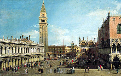 The Piazzetta, Venice, Looking North, c.1730/35 | Canaletto | Gemälde Reproduktion