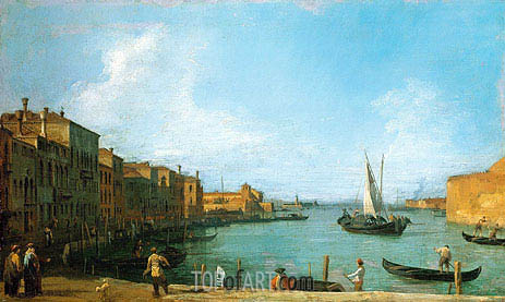 The Canale di Santa Chiara Looking North Towards the Lagoon, c.1723/24 | Canaletto | Painting Reproduction