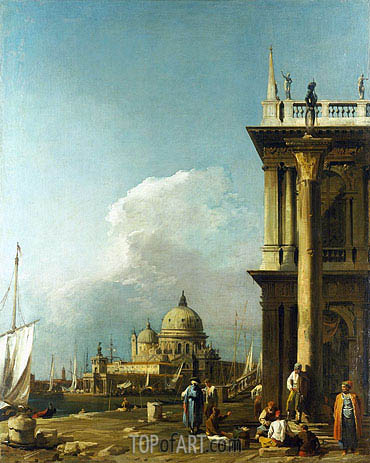 Venice: The Piazzetta towards St. Maria della Salute, c.1724 | Canaletto | Painting Reproduction