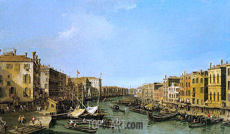 The Grand Canal Looking South-West from the Rialto to Ca' Foscari, c.1725/26 | Canaletto | Painting Reproduction