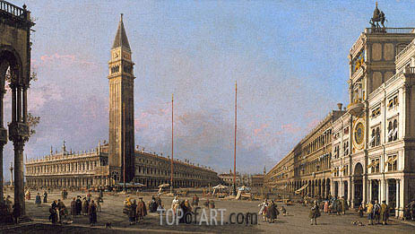 Piazza San Marco Looking South and West, 1763 | Canaletto | Painting Reproduction