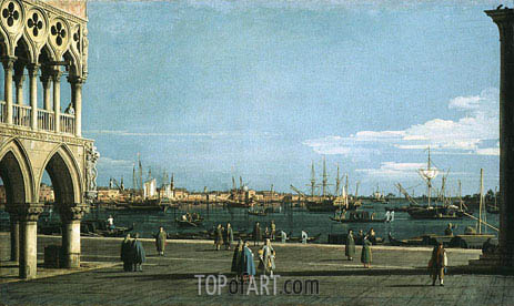 The Bacino di San Marco from the Piazzetta, undated | Canaletto | Painting Reproduction