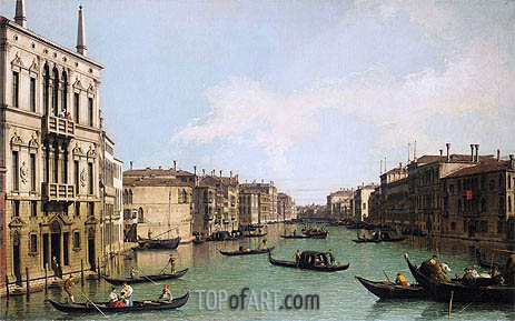 Venice: the Grand Canal Looking North-East from Palazzo Balbi to the Rialto Bridge, c.1742 | Canaletto | Painting Reproduction