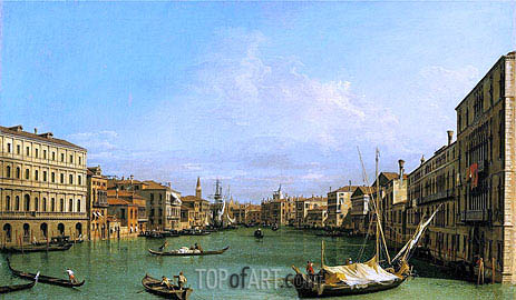 Grand Canal Looking South from Ca' Foscari to the Carita, c.1726/27 | Canaletto | Painting Reproduction