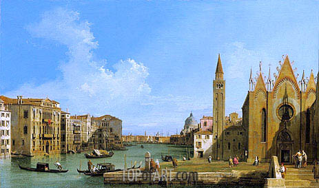 The Grand Canal Looking East from the Carita towards the Bacino, c.1727/28 | Canaletto | Painting Reproduction
