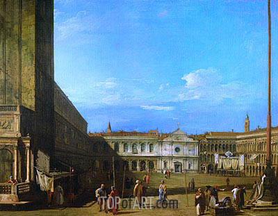 Venice: Piazza San Marco towards San Geminiano, c.1726/28 | Canaletto | Painting Reproduction