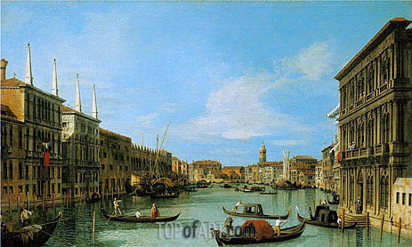 The Grand Canal Looking West from Palazzo Vendramin-Calergi towards San Geremia, c.1727/28 | Canaletto | Painting Reproduction