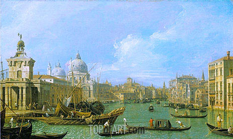The Mouth of the Grand Canal Looking West towards the Carita, c.1729/30   Canaletto   Painting Reproduction