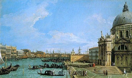 The Grand Canal Looking towards the Riva degli Schiavoni, c.1729/30 | Canaletto | Painting Reproduction