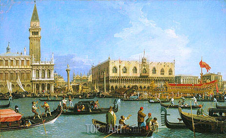 The Bacino di San Marco on Ascension Day, c.1733/34   Canaletto   Painting Reproduction