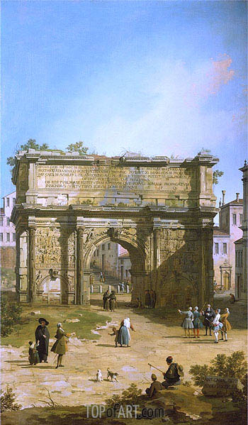 Rome: The Arch of Septimus Severus, 1742 | Canaletto | Painting Reproduction