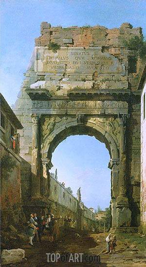 Rome: The Arch of Titus, 1742 | Canaletto | Painting Reproduction