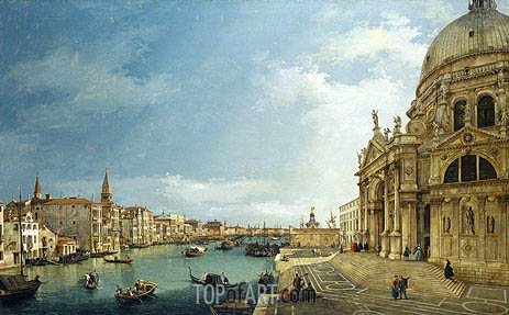The Grand Canal with St. Maria della Salute towards the Riva degli Schiavoni, 1744 | Canaletto | Painting Reproduction