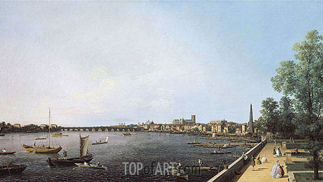 London: The Thames from Somerset House Terrace towards Westminster, c.1750 | Canaletto | Painting Reproduction