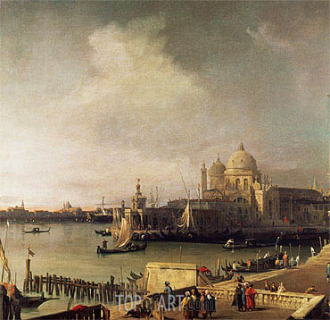 Entrance to the Grand Canal, c.1726/28 | Canaletto | Painting Reproduction