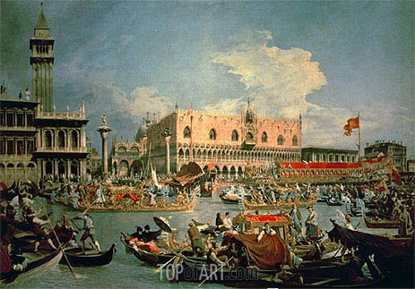 Return of the Bucintoro on Ascension Day, 1729 | Canaletto | Painting Reproduction