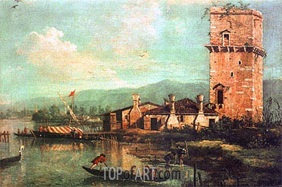 Torre di Marghera, 1741 | Canaletto | Gemälde Reproduktion