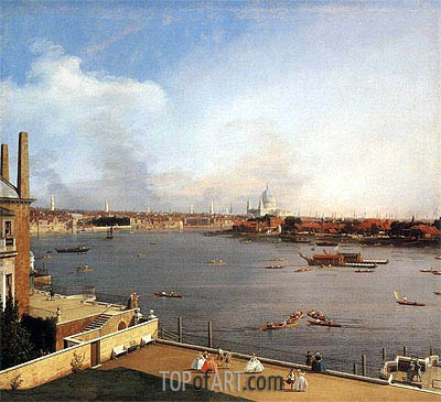 London: The Thames and the City of London from Richmond House, 1746 | Canaletto | Gemälde Reproduktion