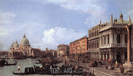 The Molo: Looking West, 1730 | Canaletto | Painting Reproduction