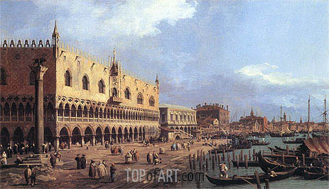 Riva degli Schiavoni: Looking East, 1730 | Canaletto | Painting Reproduction