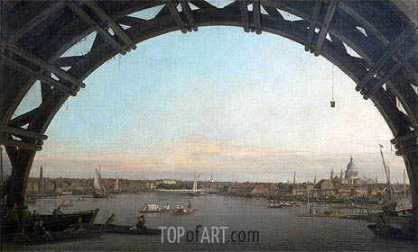 London: Seen through an Arch of Westminster Bridge, c.1746/47 | Canaletto | Painting Reproduction