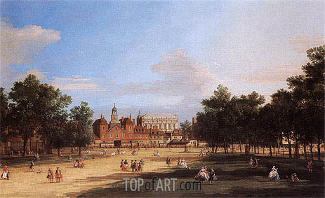London: the Old Horse Guards and Banqueting Hall from St James's Park, 1749 | Canaletto | Gemälde Reproduktion