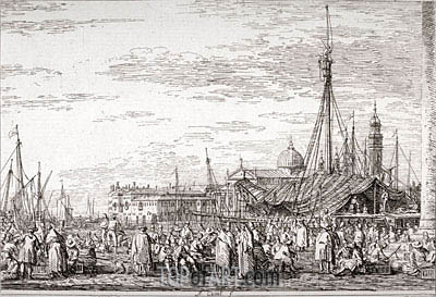 The Market on the Molo, undated | Canaletto | Gemälde Reproduktion