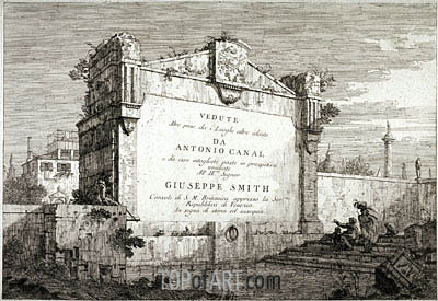 Title Plate from the Series Vedute, c.1735/46 | Canaletto | Painting Reproduction